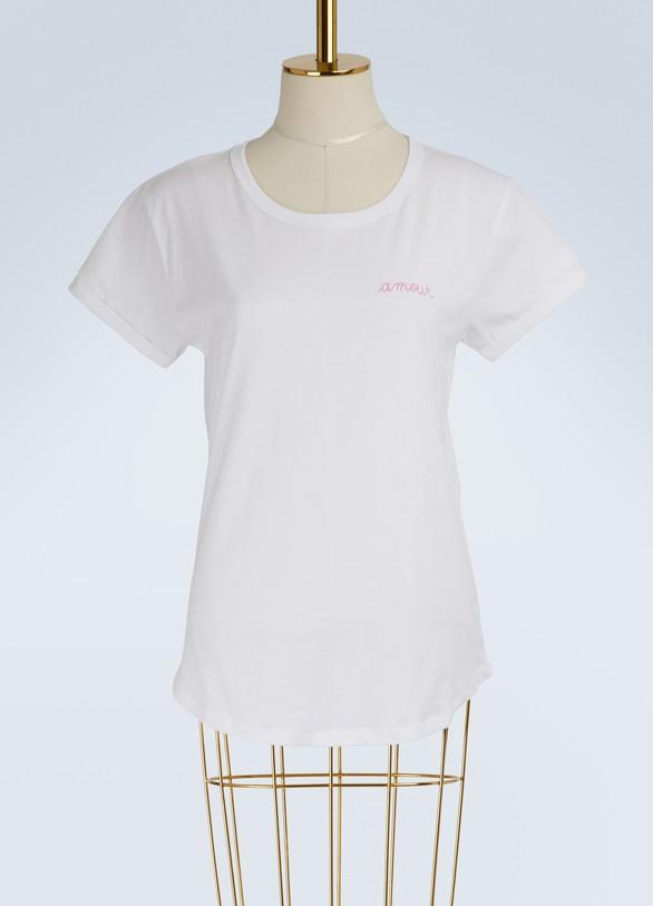 MAISON LABICHET-shirt amour en coton