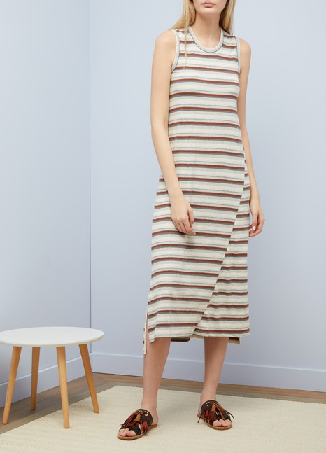 James Perse Sleeveless striped dress