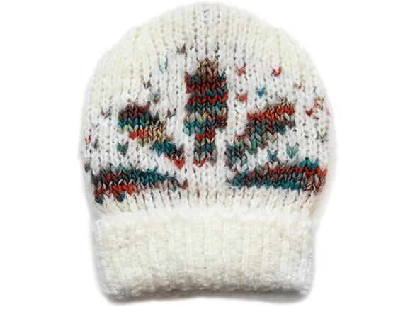 VANESSA BRUNOAlpaga flower jacquard hat