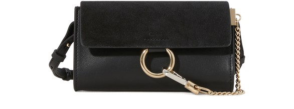 CHLOE Faye wallet on strap